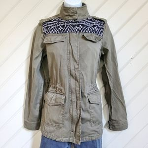MUDD Military Jacket W/ Embroidery
